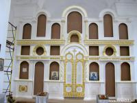 Тело иконостаса ( в храме Вознесения Господня в поселке Новоселенгинск. )