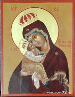 Икона Пресвятой Богородицы Почаевская (работа Марины Климовой)