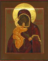 Образ Пресвятой Богородицы «Федоровская» (после реставрации)