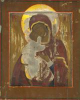 Образ Пресвятой Богородицы «Федоровская» (до реставрации)