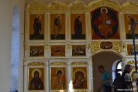 Фрагмент иконостаса в храме во имя святого Николая Чудотворца (с. Мангут, Забайкальский край)